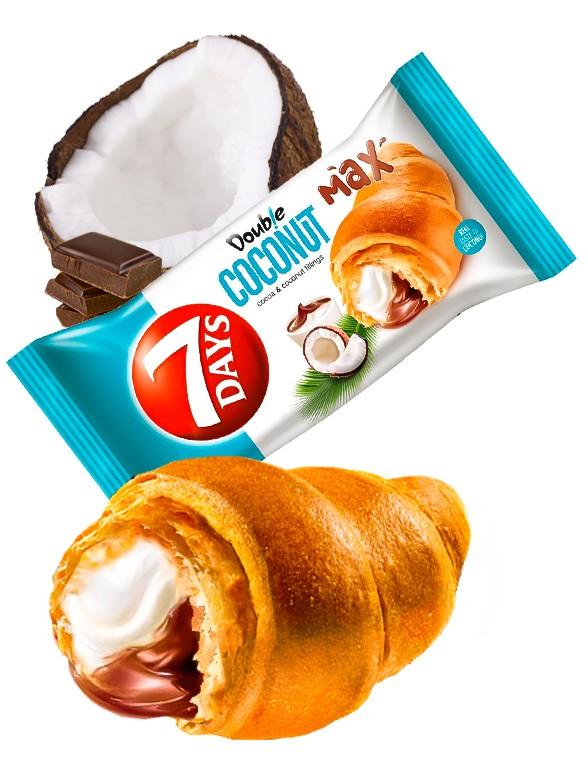 Cruasán de Crema de Chocolate con Coco | Max 110 grs