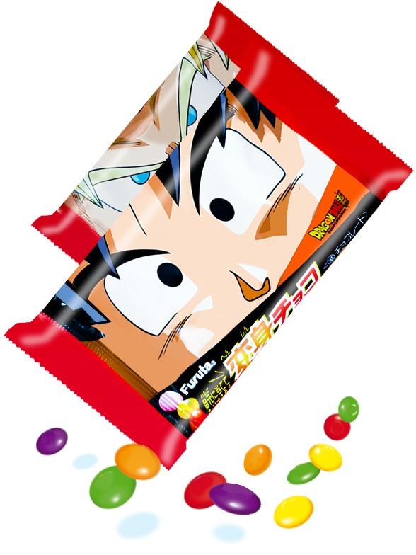 Grageas de Chocolate y Colores | Dragon Ball Super | 4 Diseños Diferentes 40 grs