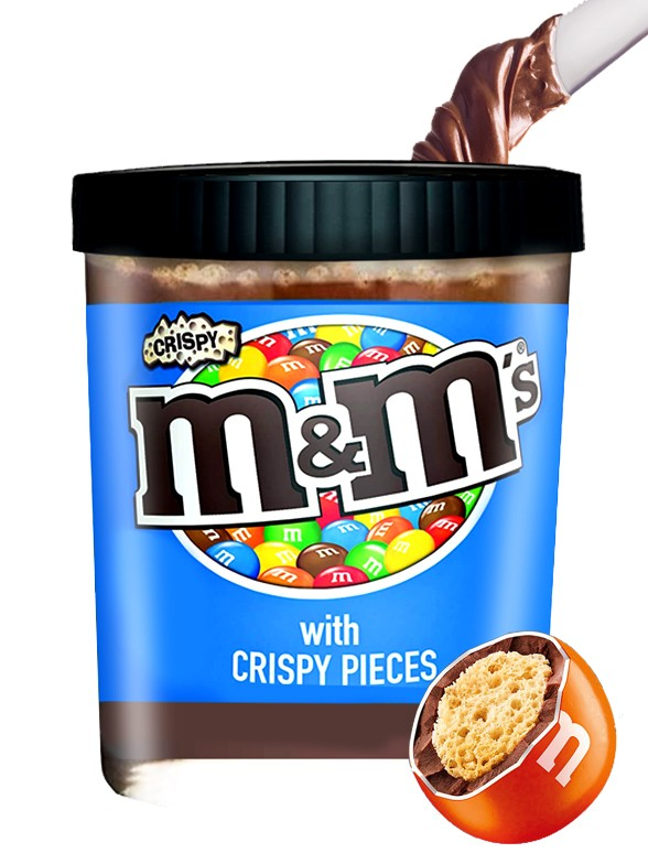 Crema estilo Nutella de M&M's Crispy 190 grs