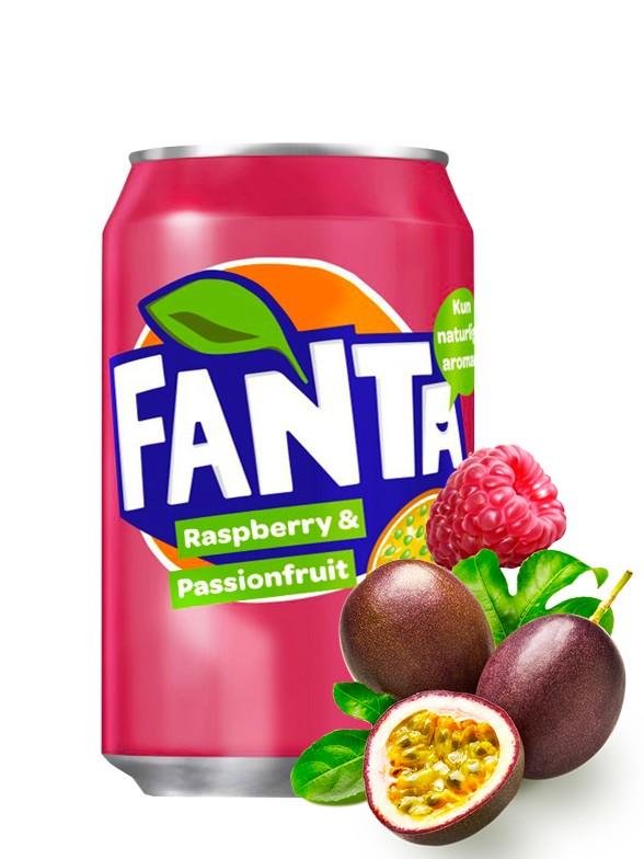 Fanta de Fruta de la Pasión con Frambuesa 330ml