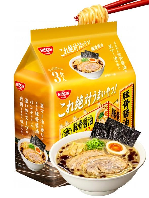 Fideos Ramen Cerdo Salsa de Soja | Kore Zettai | Pack de 3 | 261 grs