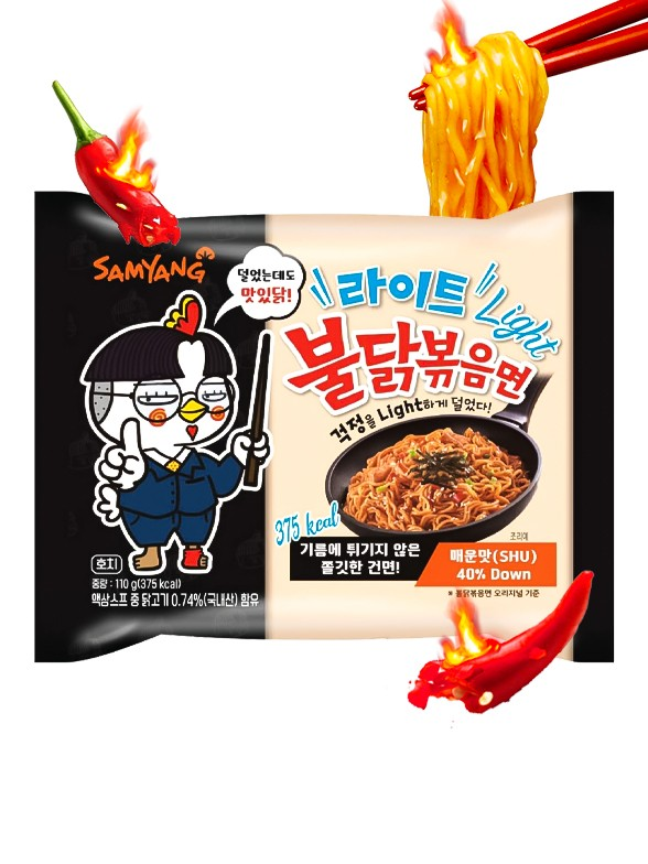 Fideos Ramen Coreano Salteado Wok HOT Chicken LIGHT | Bag