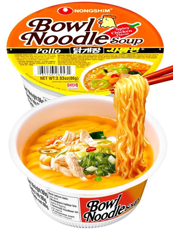 Fideos Ramen Coreanos Pollo Naruto Hot & Spicy | Bowl Migug-in