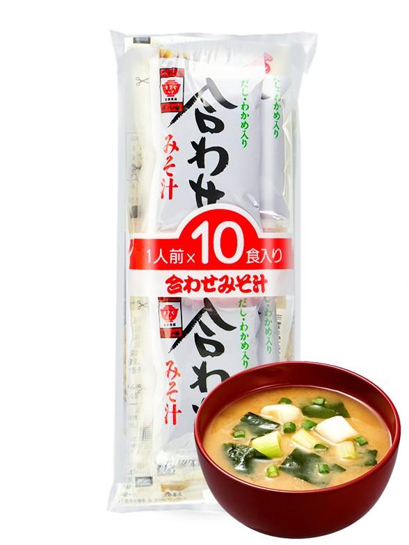 10 Raciones de Sopa instantánea de Miso Fresco Maruyama y Wakame