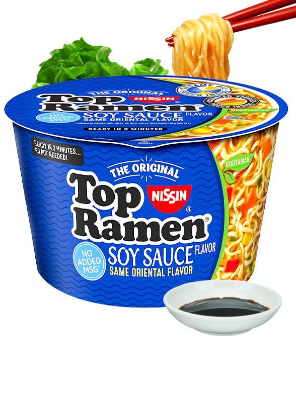 Fideos Top Ramen Bowl Shoyu 90 grs.