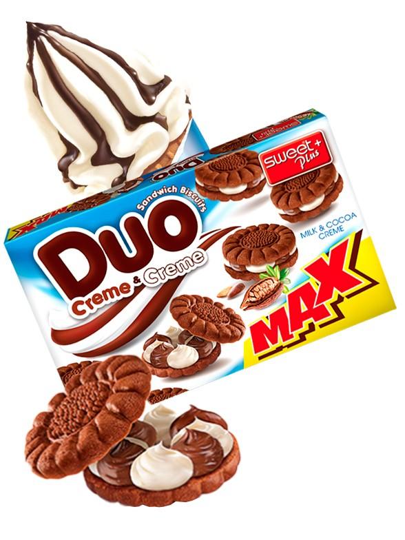 Galletas de Cacao con Doble Crema de Chocolate y Leche | ODuo 270 grs