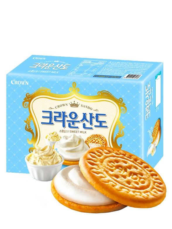 Galletas Coreanas de Crema Batida de Leche   Queen Recipe 161 grs.