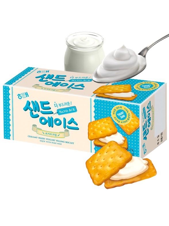Galletas Coreanas Rellenas de Crema de Yogur 68 grs.