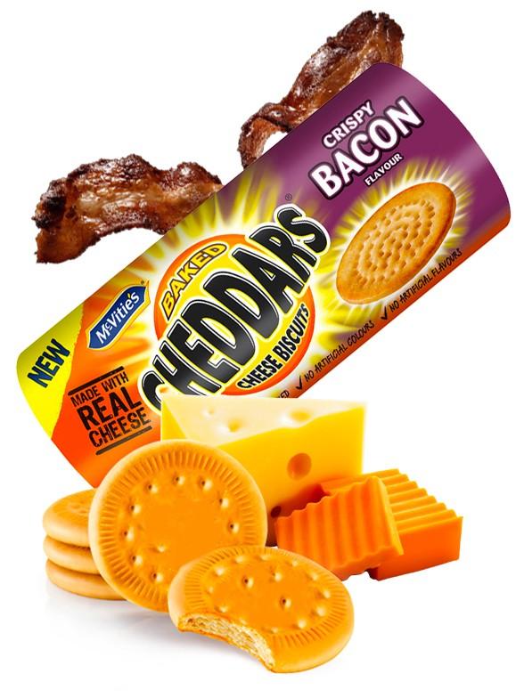 Galletitas Saladas de Cheddar con Sabor Bacon 150 grs.
