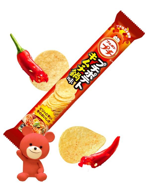 Mini Chips Kimchi   Petit Kuma   Picante 37 grs