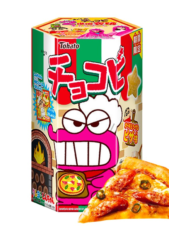 Galletas Snack Shin Chan Sabor Pizza con Queso | Edit. Limitada