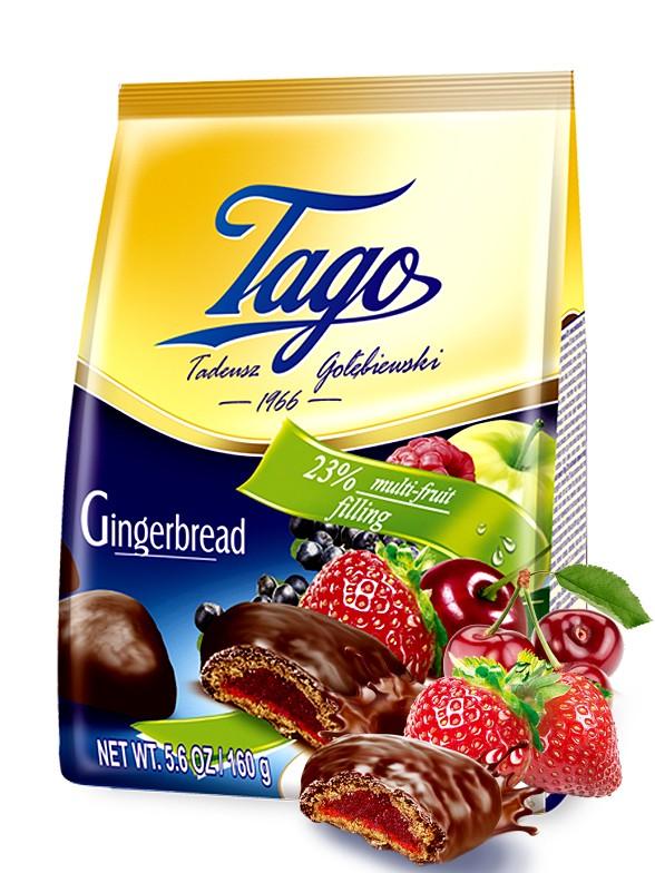 Galletas de Jengibre con Chocolate y Mermelada de Frutas 160 grs