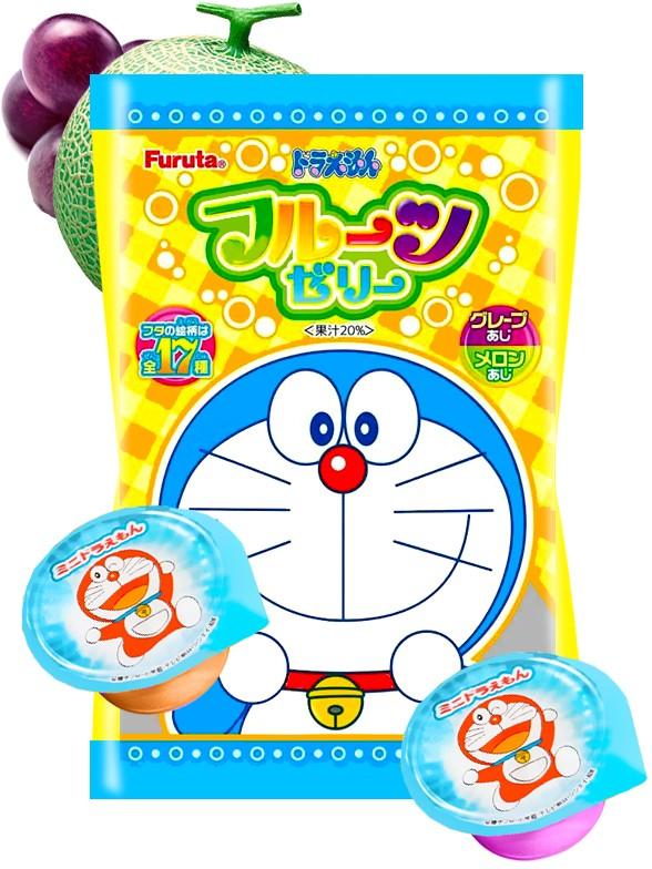 Gelatinas de Uva y Melón Doraemon 240 grs.