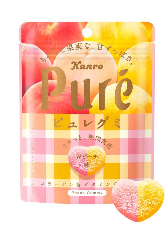 Gominolas de Doble Melocotón Rosado y Amarillo Japones (Momo) 56 grs