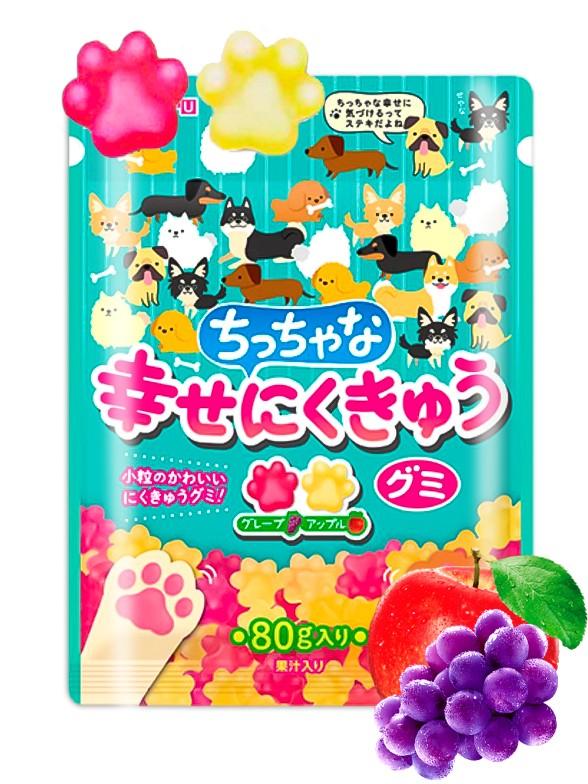 Gominolas Patitas de Mascotas sabor Uva y Manzana 80 grs