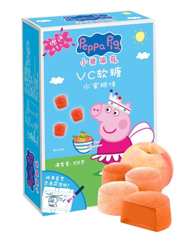Gominolas de Melocotón Rosado Peppa Pig 108 grs. | Elaboradas con Zumo
