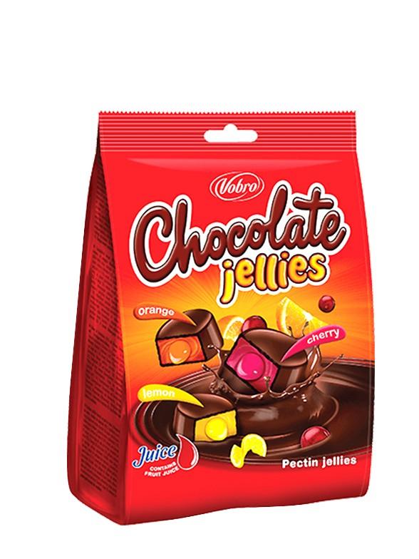 Gominolas recubiertas de Chocolate rellenas de Frutas 200 grs.