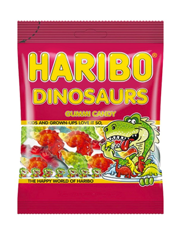 Gominolas Dinosaurios 5 Sabores | Haribo 142 grs