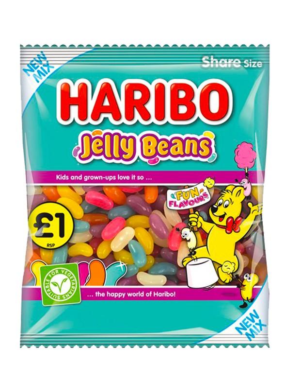 Jelly Beans con Sabores de Dulces y Frutas | Haribo 160 grs.