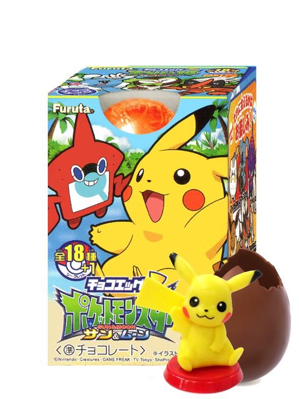 Huevo Chocolate Pokemon Sol y Luna | Incluye Figurita 20 grs