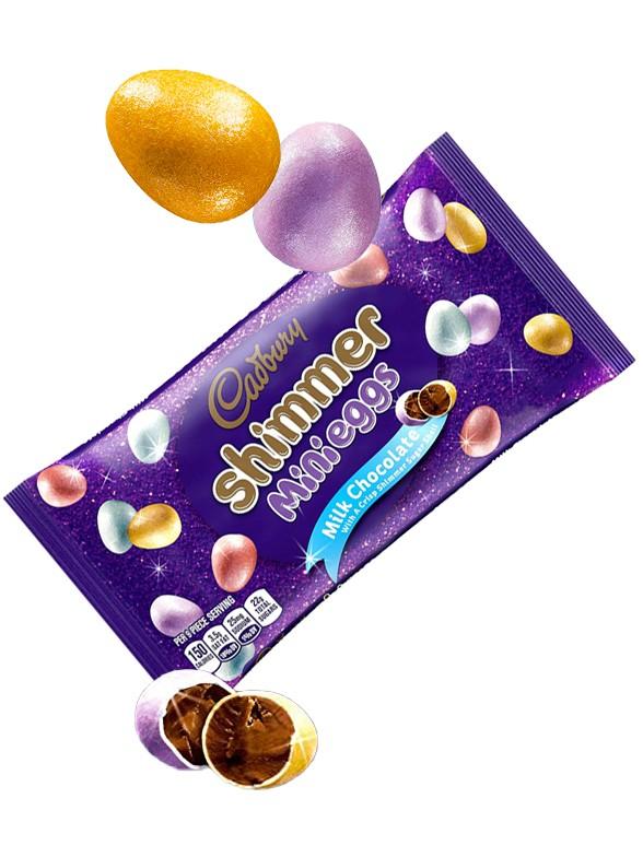 Mini Huevos Brillantes de Chocolate Cadbury 198 grs