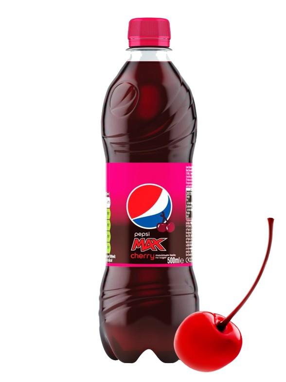 Pepsi Max Cherry Sin Azúcar 500 ml | Pedido GRATIS!
