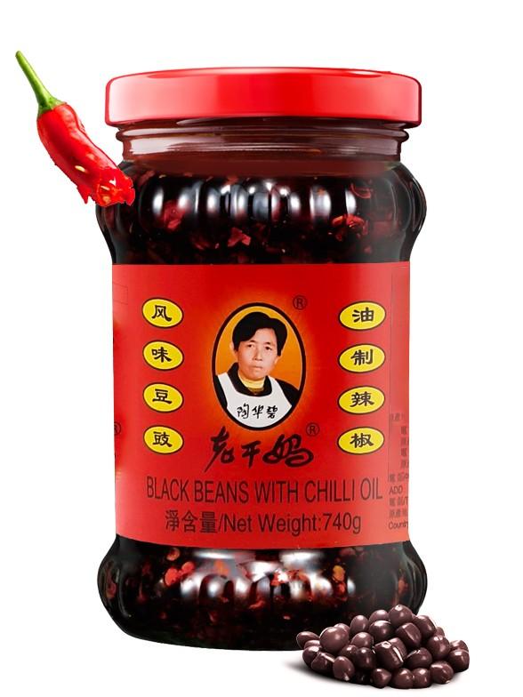 Judías Negras en Aceite de Chili 740 grs.