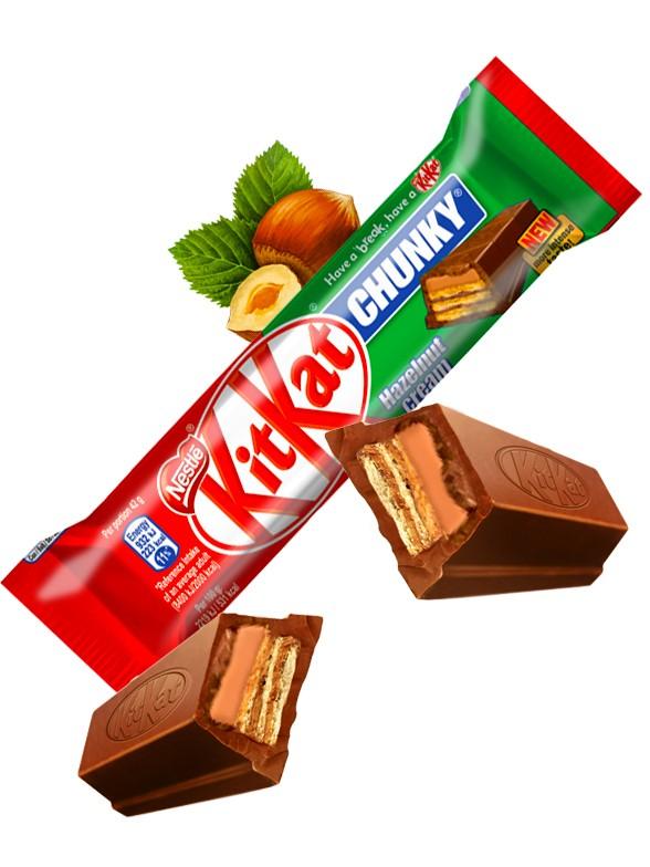 Gran Kit Kat de Chocolate con Avellanas   (Estilo Nutella) 42 grs