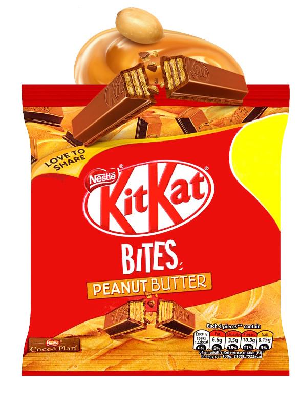 Mini Kit Kats de Chocolate y Crema de Cacahuete 81grs
