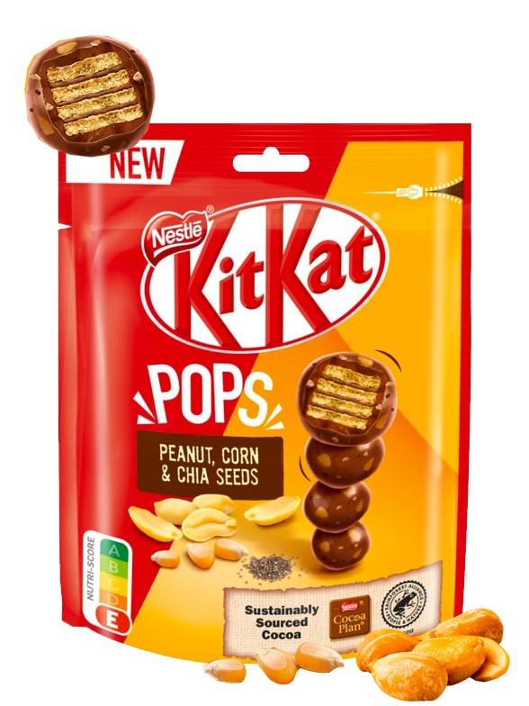 Kit Kat Pops de Cacahuetes, Maíz y Chia 110 grs