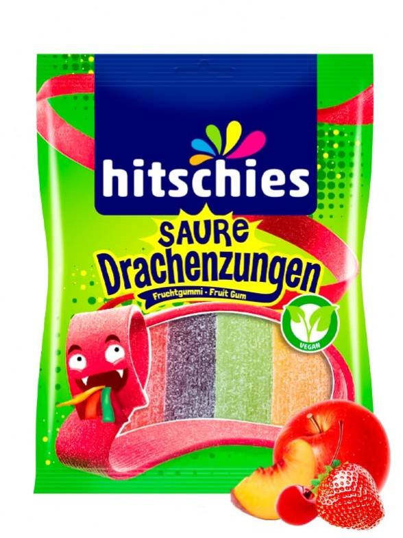 Lenguas de Dragón de Gominolas Ácidas   Sabor a Frutas 125 grs.