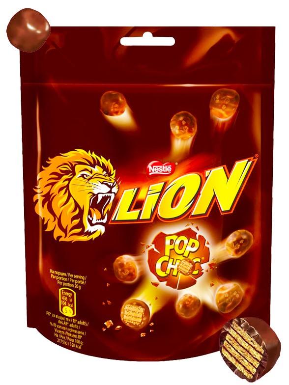 Pops Crujientes de Chocolate | Lion Nestle 140 grs.
