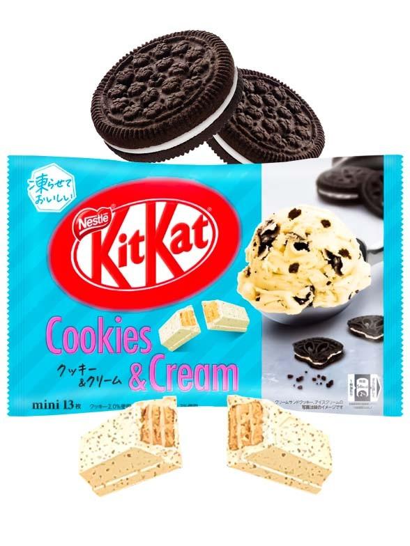 Mini Kit Kats Sabor Cookies & Cream   Estilo Oreo   13 Unidades