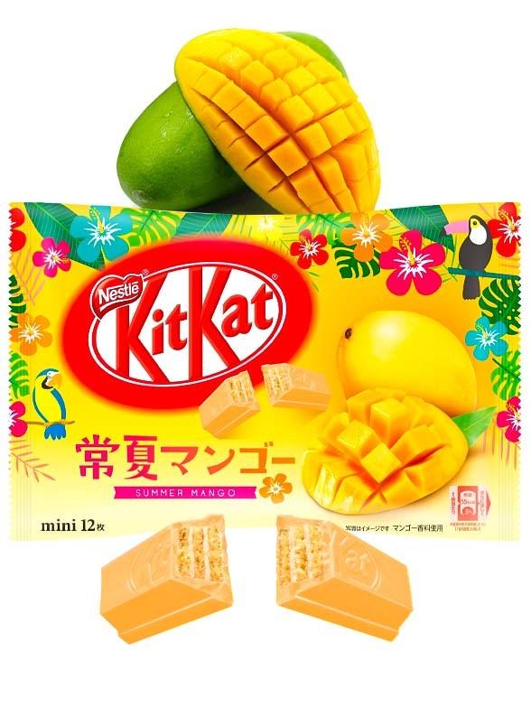 Mini Kit Kats Sabor Sorbete de Mango | 12 Unidades