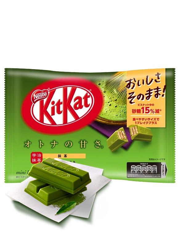 Mini Kit Kats de Té Verde Matcha Gyokuro Uji | 14 Unidades