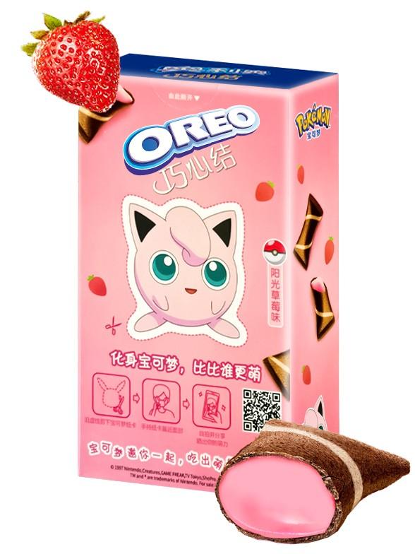 Mini Creps de Oreo rellenos de Fresa   Edic. Pokemon 47 grs