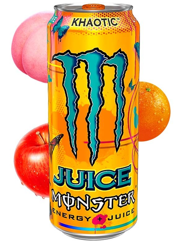 Bebida Energética Monster Juice Khaotic   USA 473 ml
