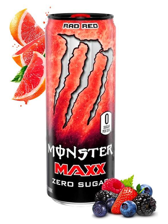 Bebida Energética Monster MAXX Rad Red Más Cafeína   355 ml