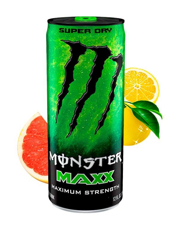 Bebida Energética Monster MAXX Super Dry Más Cafeína | 355 ml