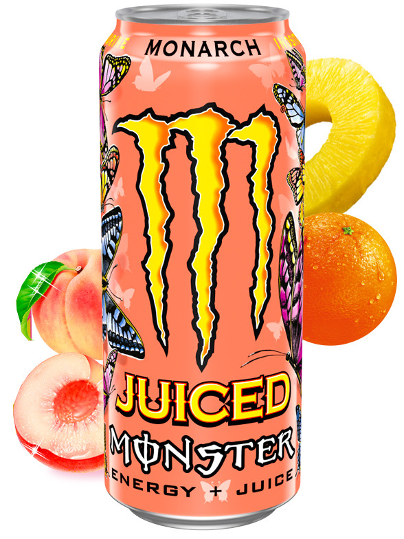 Bebida Energética Monster Juice Monarch 500 ml.