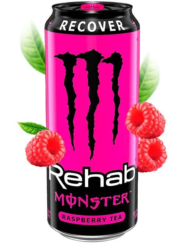 Monster Rehab Recover Frambuesa USA | NUEVO DISEÑO | 458 ml