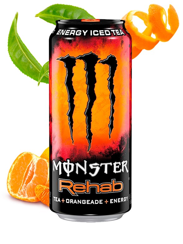 Monster Energy Ice Tea Rehab Orangeade | USA 458 ml.