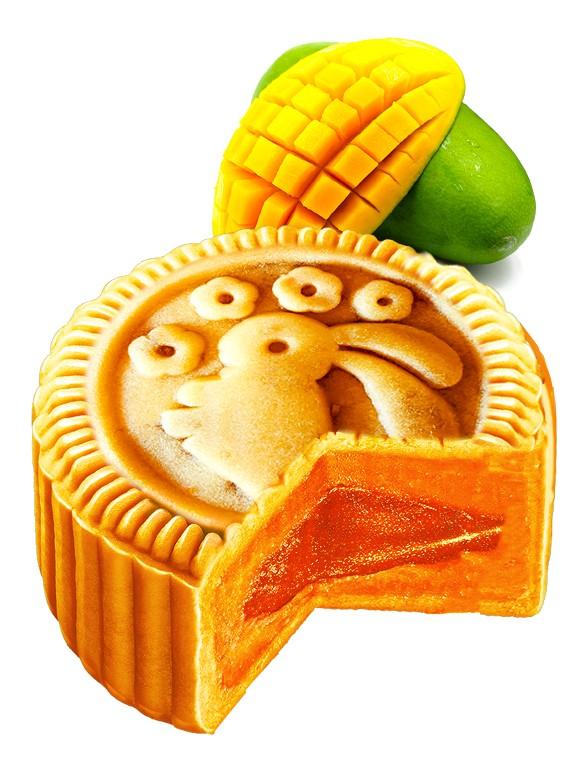 Pastel de Luna Usagi relleno de Crema de Mango 80 grs.
