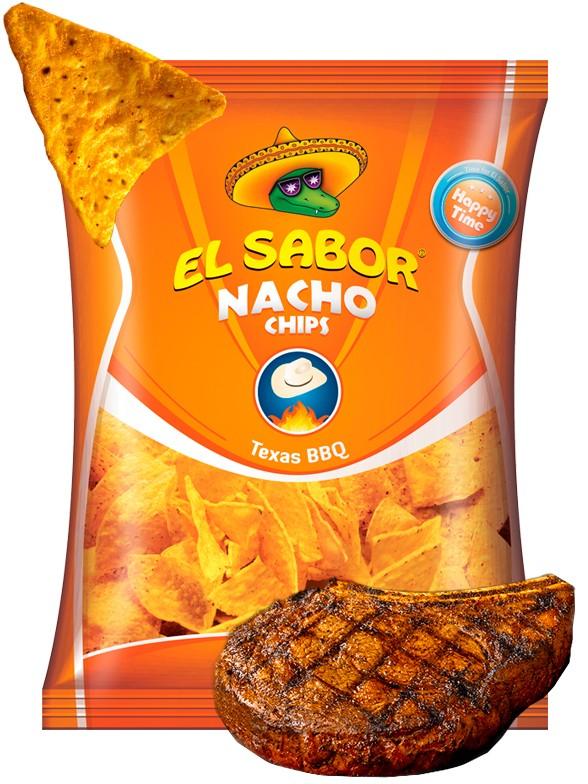 Nachos Sabor Texas BBQ 100 grs.