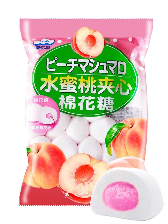 Nubes Daifuku de gelatina de Momo Melocotón Rosado 90 grs.