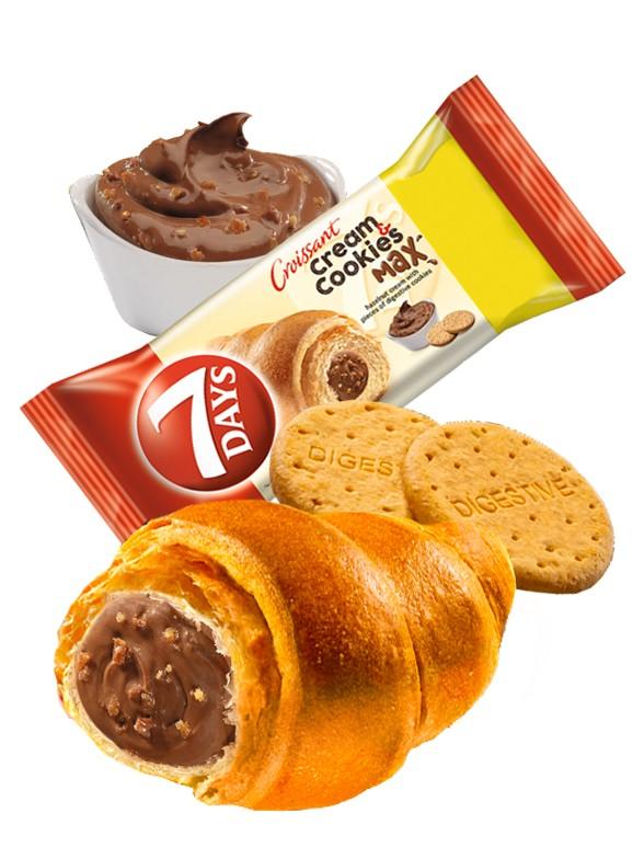 Cruasán de Crema de Chocolate con Avellanas & Digestive   Max 110 grs