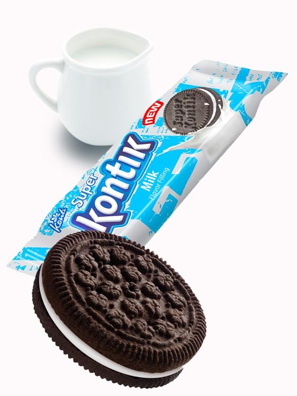 Galletas Cookies & Cream rellenas de Crema de Leche 76 grs