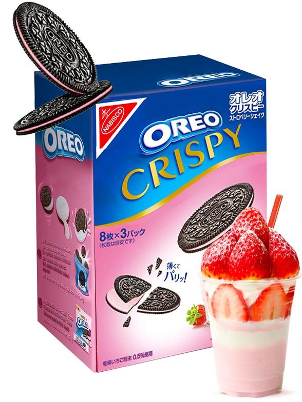 Oreo Finas Crispy de Batido de Fresa | Receta Japonesa 154 grs