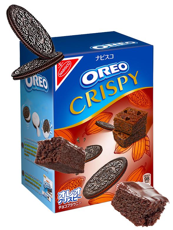 Oreo Finas Crispy de Brownie de Cacao Intenso | Receta Japonesa 154 grs