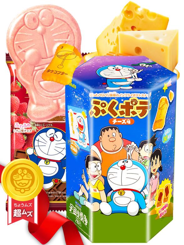 DUO PERFECTO Doraemon Cheese & Monaka Ichigo   Gift